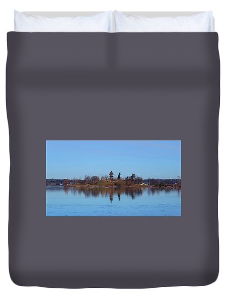 Calumet Island Reflections Duvet Cover