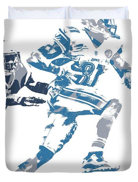 Calvin Johnson Detroit Lions Pixel Art 20 Duvet Cover