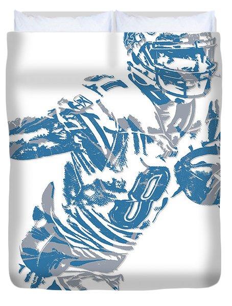 Calvin Johnson Detroit Lions Pixel Art 5 Duvet Cover