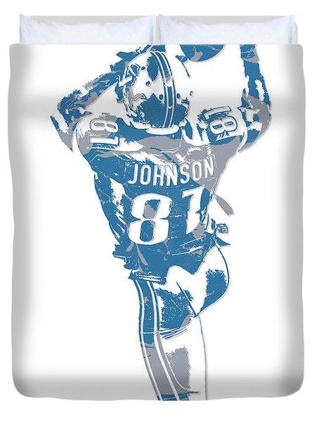 Calvin Johnson Detroit Lions Pixel Art 6 Duvet Cover