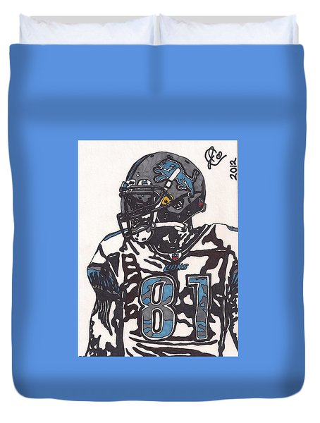 Calvin Johnson Jr 3 Duvet Cover by Jeremiah Colley
