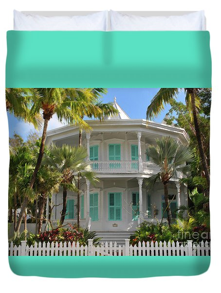 Duvet Cover featuring the photograph Calvin Klein House by Jost Houk