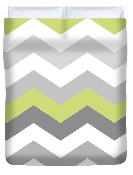 Calyx Chevron Pattern Duvet Cover