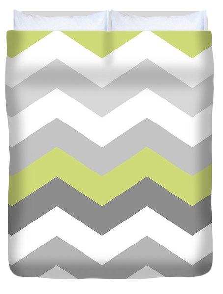 Calyx Chevron Pattern Duvet Cover