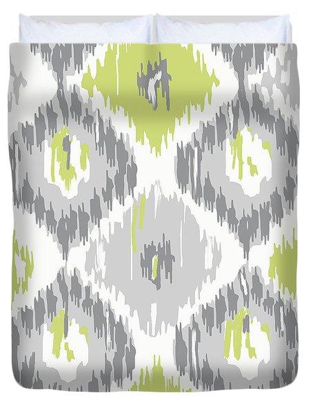 Calyx Ikat Pattern Duvet Cover