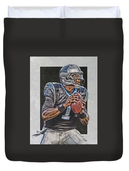 Cam Newton Carolina Panthers Art Duvet Cover