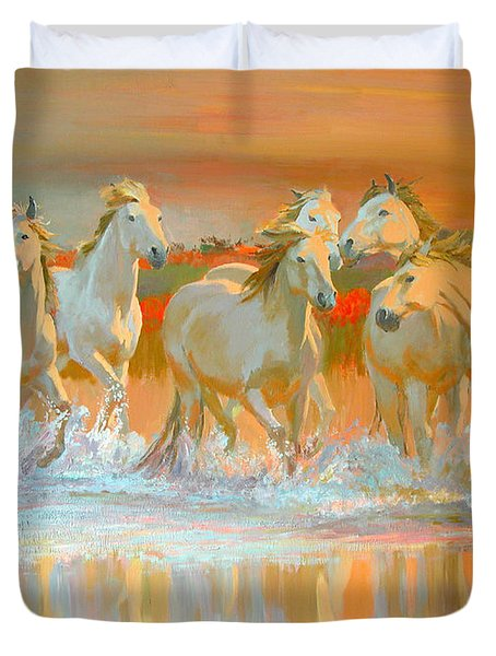 Camargue  Duvet Cover by William Ireland