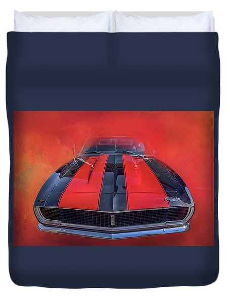 Camaro - Forged By Fire Duvet Cover by Theresa Tahara