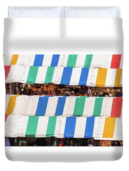 Cambridge Market Stripes Duvet Cover by David Warrington