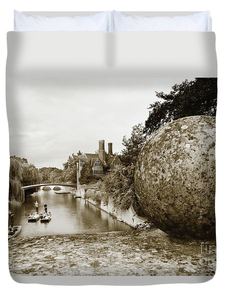 Cambridge Punting Sepia Duvet Cover