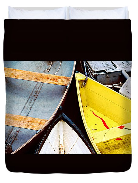 Duvet Cover featuring the photograph Camden Dories Photo by Peter J Sucy