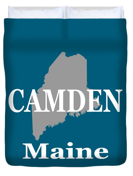 Duvet Cover featuring the photograph Camden Maine State City And Town Pride  by Keith Webber Jr