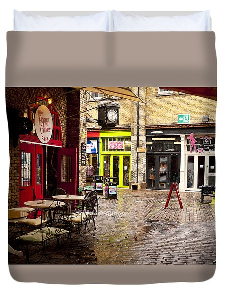 Camden Stables Market Duvet Cover by Rae Tucker