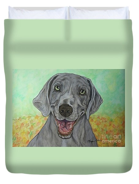 Camden The Weimaraner Duvet Cover