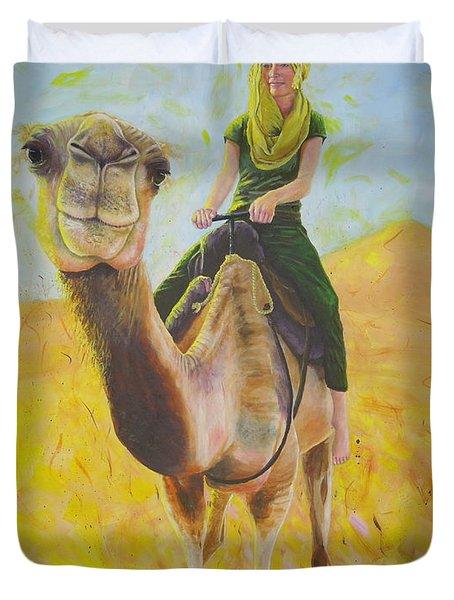 Camel At Work Duvet Cover