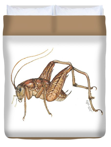 Camel Cricket Duvet Cover by Cindy Hitchcock