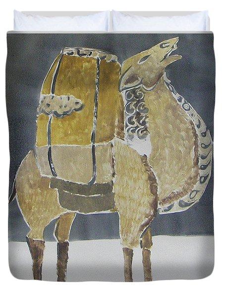 Camel Facing Right Duvet Cover