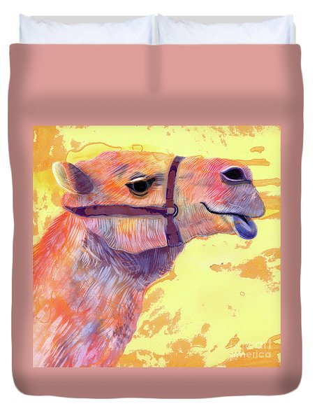 Camel Duvet Cover by Jane Tattersfield