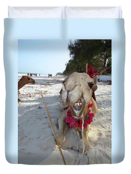 Camel On Beach Kenya Wedding2 Duvet Cover