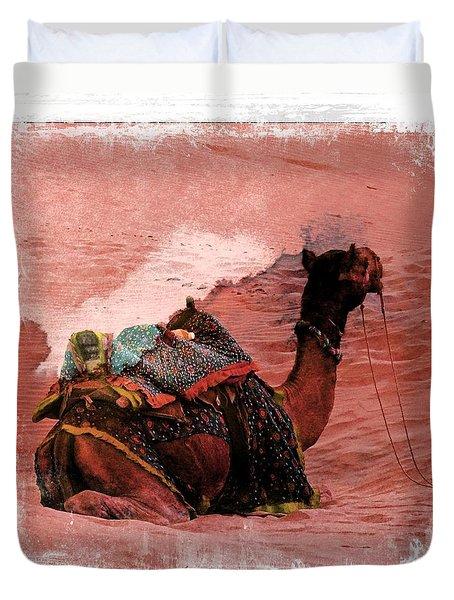 Camel Sand Dunes Thar Desert Rajasthan India 2a Duvet Cover