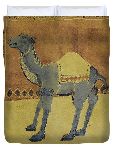 Camel With Diamonds Duvet Cover
