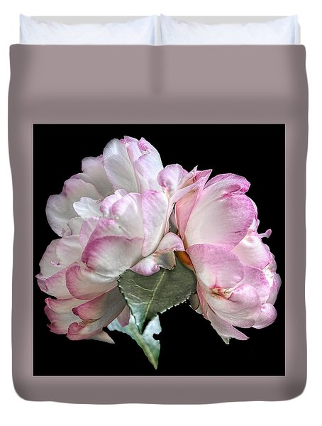 Duvet Cover featuring the photograph Camelia by Susi Stroud