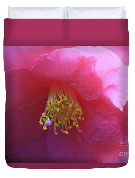 Camellia Japonica Duvet Cover by Louise Heusinkveld