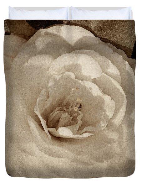 Camellia Of White Tint Duvet Cover