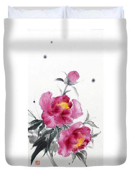 Camellia / Tsubaki Duvet Cover