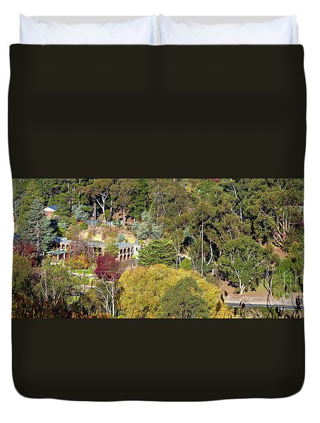 Duvet Cover featuring the photograph Camelot Castle, Basket Range by Bill Robinson