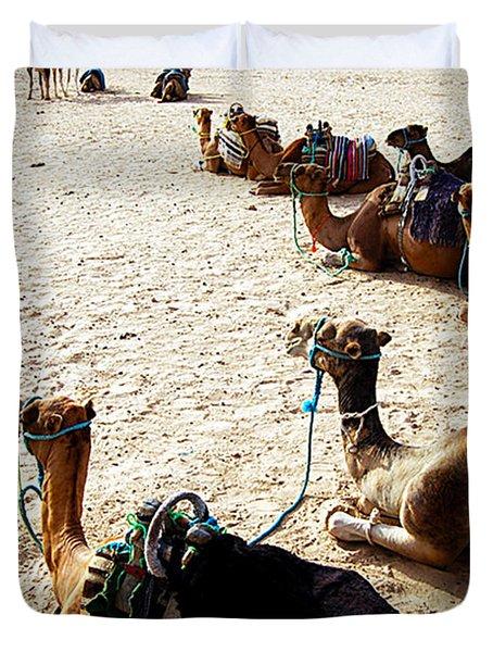 Camels Duvet Cover by Marleen Hoftijzer
