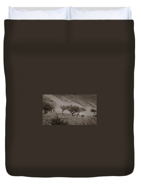 Camels Duvet Cover by Silvia Bruno