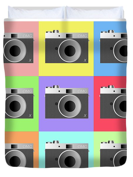 Camera 9 Duvet Cover by Richard Reeve