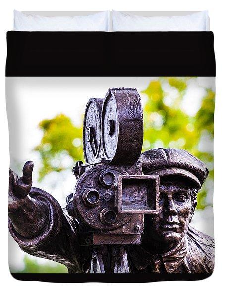 Camera Man - 3 Duvet Cover