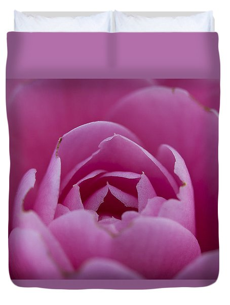 Camellia Close-up Duvet Cover