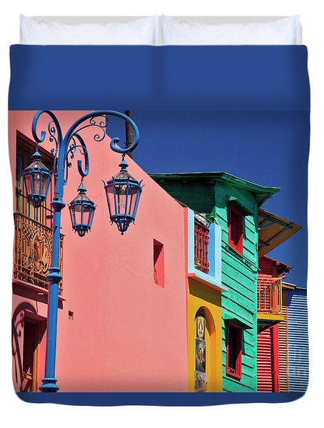 Duvet Cover featuring the photograph Caminito by Bernardo Galmarini
