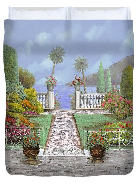 Camminando Verso Il Lago Duvet Cover by Guido Borelli