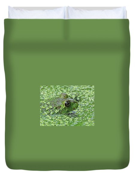 Camo Frog Duvet Cover