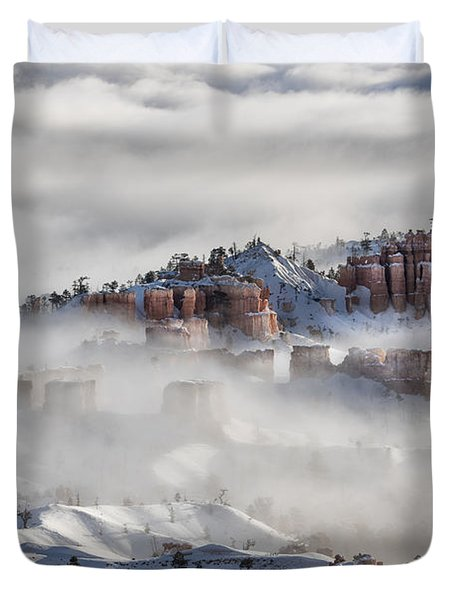 Duvet Cover featuring the photograph Camouflage - Bryce Canyon, Utah by Sandra Bronstein