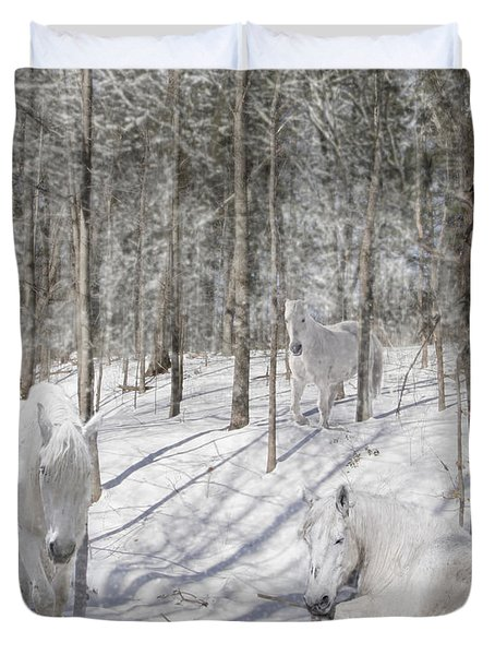 Camouflaged Duvet Cover
