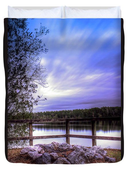 Duvet Cover featuring the photograph Camp Ground by Maddalena McDonald