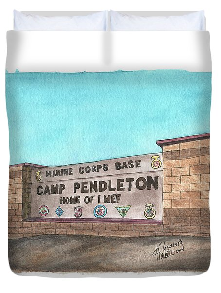 Camp Pendleton Welcome Duvet Cover