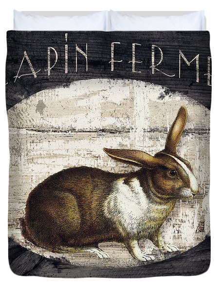 Campagne Iv Rabbit Farm Duvet Cover