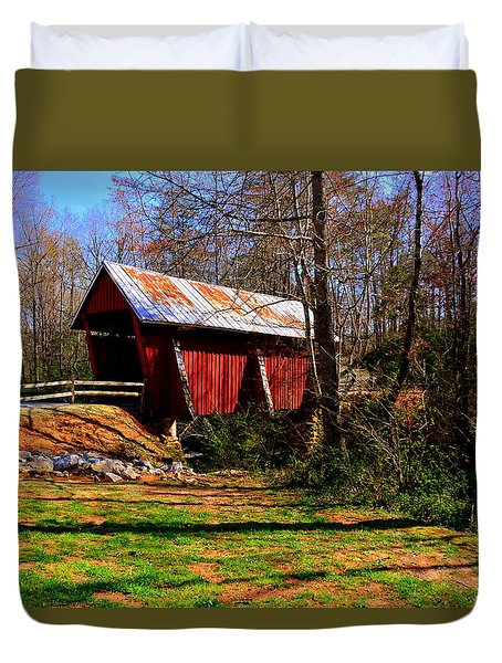 Campbell's Covered Bridge Est. 1909 Duvet Cover