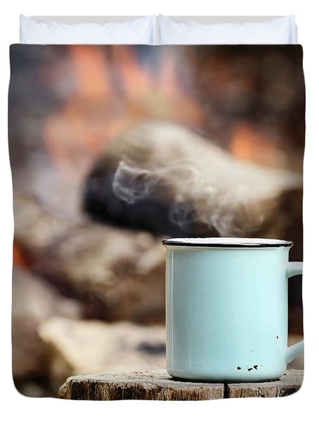 Campfire Coffee Duvet Cover