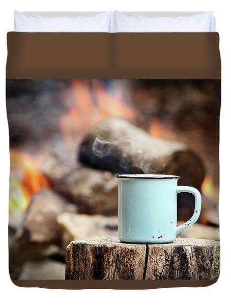 Campfire Coffee Duvet Cover