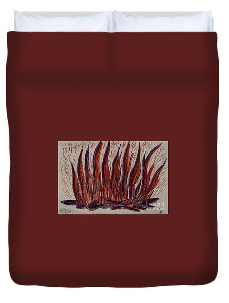 Campfire Flames Duvet Cover by Theresa Willingham