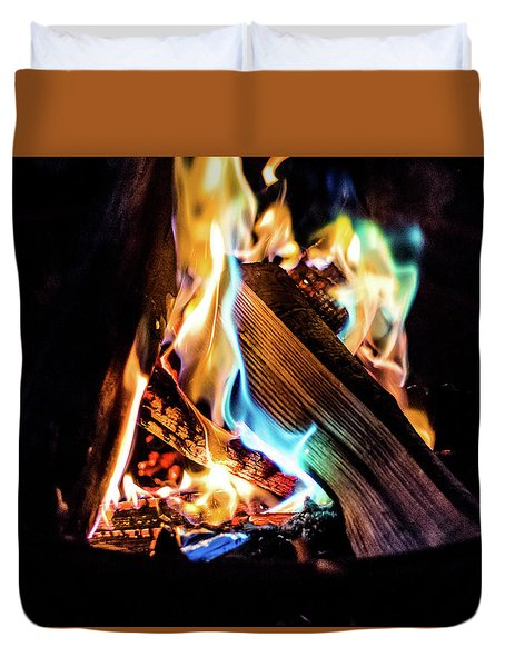Campfire In July Duvet Cover