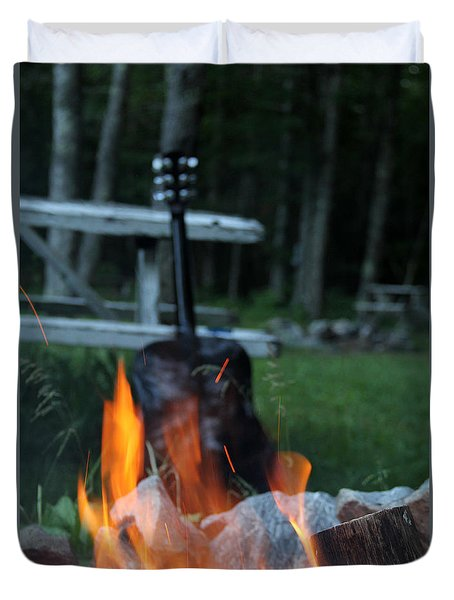 Campfire Songs Duvet Cover
