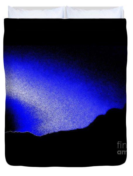 Camping Blues Duvet Cover